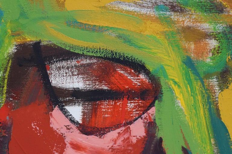 'Bedreigd volk', Threatened people, Martin van Wordragen, Oil paint on canvas For Sale 7