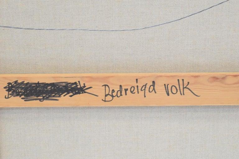 'Bedreigd volk', Threatened people, Martin van Wordragen, Oil paint on canvas For Sale 11