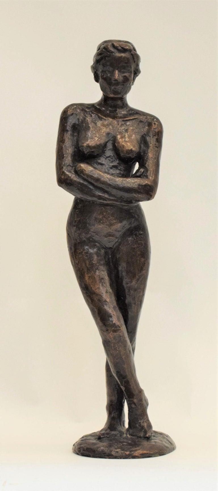 Anneke Hei-Degenhardt Nude Sculpture - Bronze statue of a woman, Anneke Hei - Degenhardt (1951), Signed