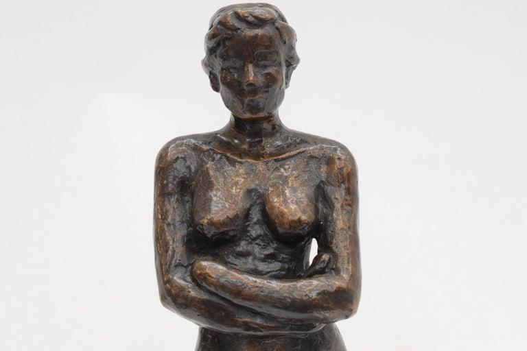 Bronze statue of a woman, Anneke Hei - Degenhardt (1951), Signed 3