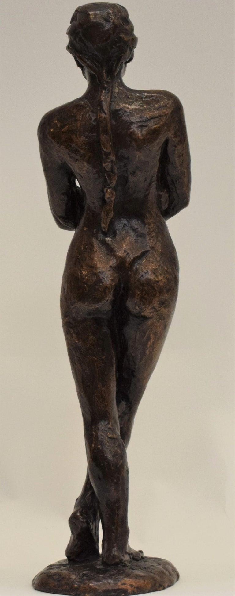 Bronze statue of a woman, Anneke Hei - Degenhardt (1951), Signed - Gold Nude Sculpture by Anneke Hei-Degenhardt