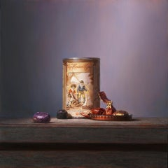 Van Houten tin with chocolates - Peter van den Borne