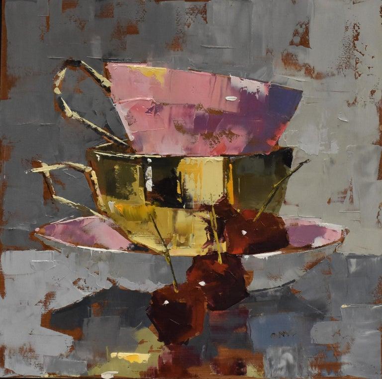 Tasty - Ans Debije Dutch Realist Impressionist - Painting by Ans Debije