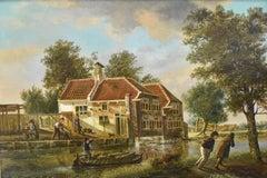 Carpenters place - J.H. verheijen Dutch Romantic Landscape
