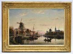 Cornelis C. Dommelshuizen - Evening at Maassluis, Holland (1897) - Dutch - Town