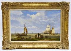 Hermanus Koekkoek - Sailing ships off the coast