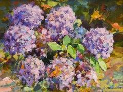 Purple hydrangea flowers - Frans Manders, Dutch Artist
