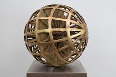 Bronze-Kugel -  Bronze-Ball Contemporary Golden Sculpture Art Round