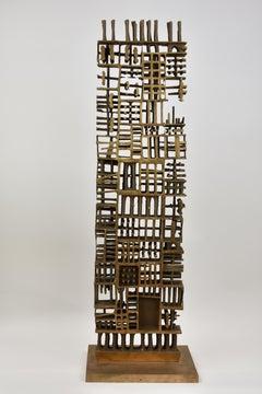 Bizzare Wand 2 - Bronze Contemporary Sculpture Architecture Art