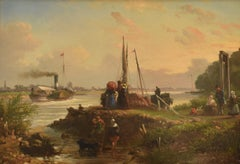 Riverside - Romantic Representation Oil Panel Ornament Frame