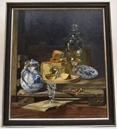 Still life with cheese - Classical Art Oil Canvas Painting
