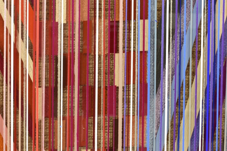 Jacqueline Bozon (Netherlands, 1966) uses all her experiences, connections and observations and molds them into a colourful and playful field of lines. She communicates in colours, a universal language easy to comprehend, one which lends itself to