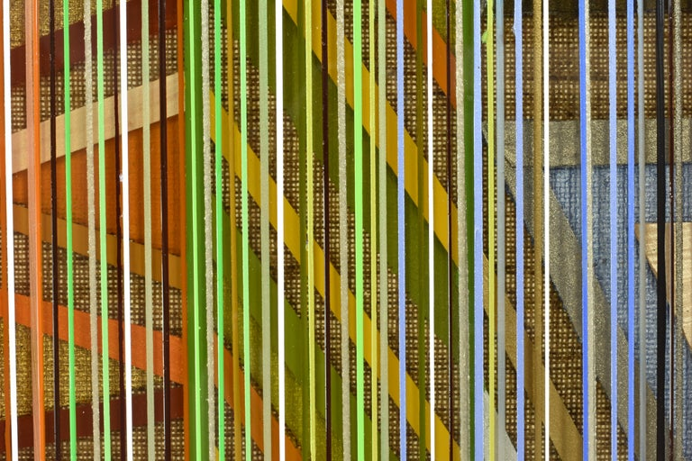 Ancient Connections 2 - Colorful Lines Abstract Ibiza Depth  For Sale 3