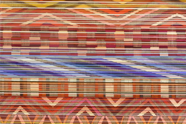 Ancient Connections 2 - Colorful Lines Abstract Ibiza Depth  For Sale 5