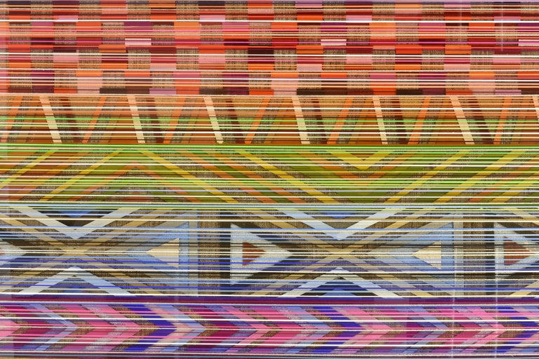 Ancient Connections 2 - Colorful Lines Abstract Ibiza Depth  For Sale 6