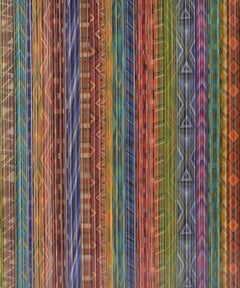 Ancient Connections 2 - Colorful Lines Abstract Ibiza Depth