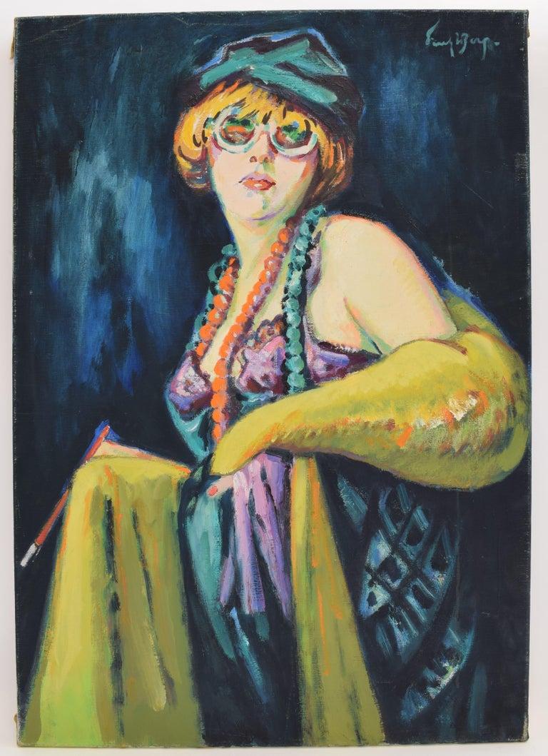 Freek van den Berg Figurative Painting - Nelly - Oil Paint on Canvas, Fauvist, Dutch Artist, Portrait, Painting