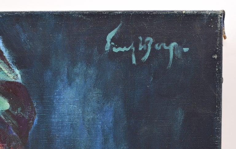 Nelly - Oil Paint on Canvas, Fauvist, Dutch Artist, Portrait, Painting For Sale 1