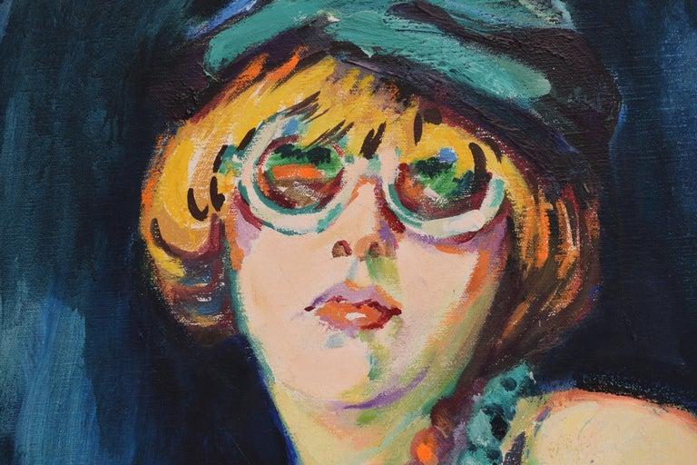 Nelly - Oil Paint on Canvas, Fauvist, Dutch Artist, Portrait, Painting For Sale 2