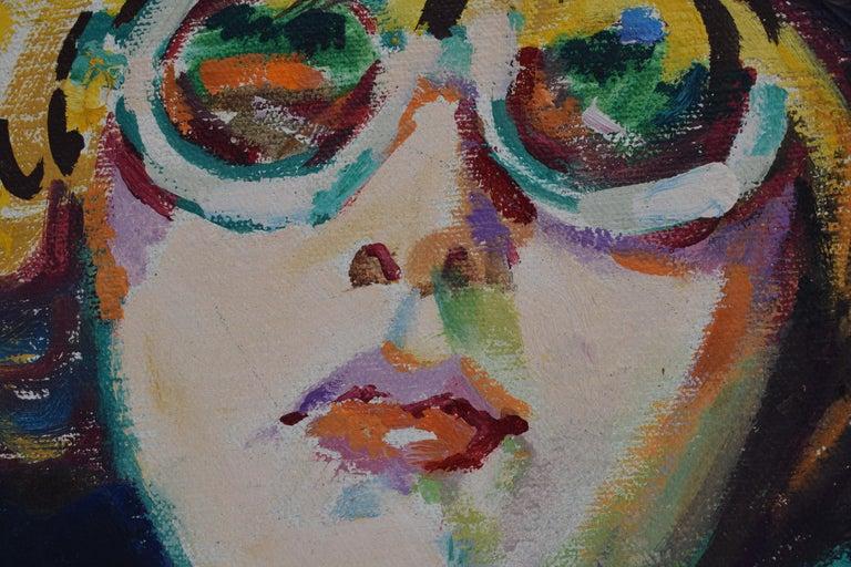 Nelly - Oil Paint on Canvas, Fauvist, Dutch Artist, Portrait, Painting For Sale 8