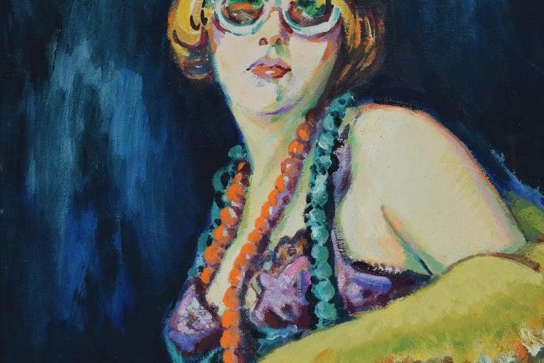 Nelly - Oil Paint on Canvas, Fauvist, Dutch Artist, Portrait, Painting For Sale 3