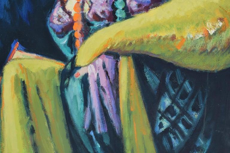 Nelly - Oil Paint on Canvas, Fauvist, Dutch Artist, Portrait, Painting For Sale 4
