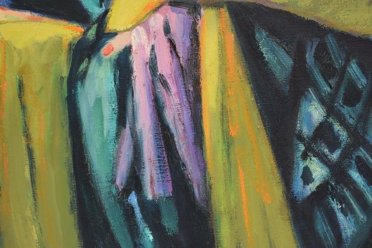 Nelly - Oil Paint on Canvas, Fauvist, Dutch Artist, Portrait, Painting For Sale 6