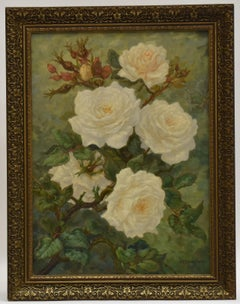 Rose bush - naturalist flowers bright realist