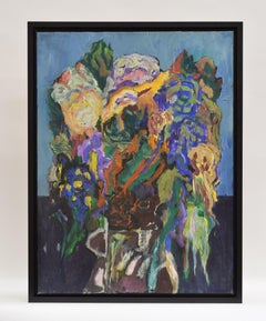 Flower still life, Ad Snijders, Oil paint on canvas, Signed and dated 2006,