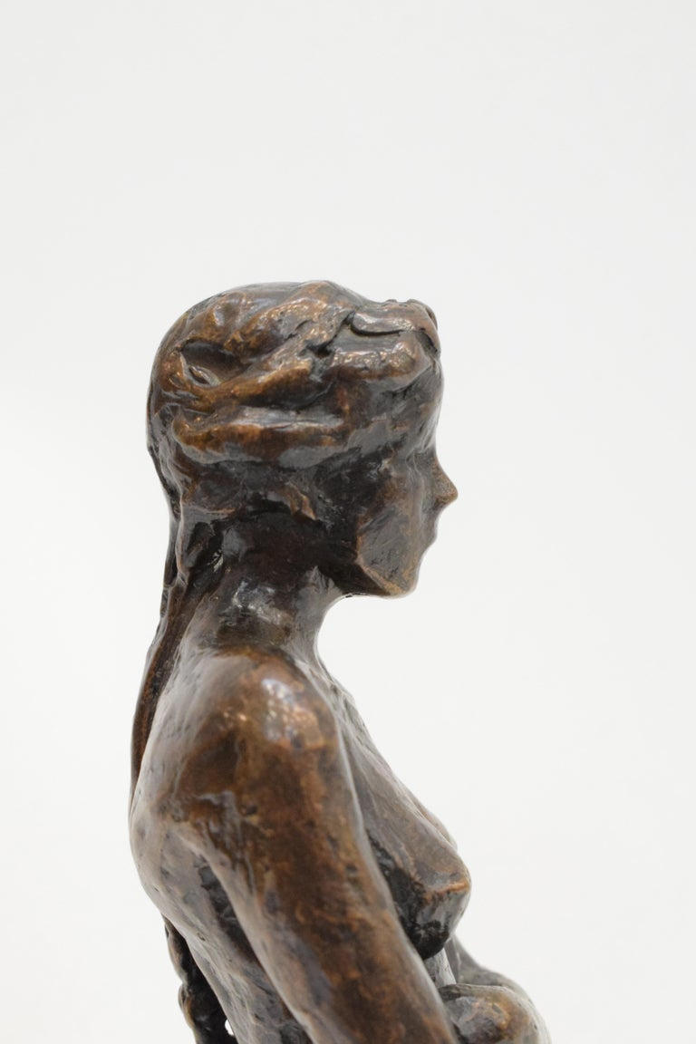 Bronze statue of a woman, Anneke Hei - Degenhardt (1951), Signed 1