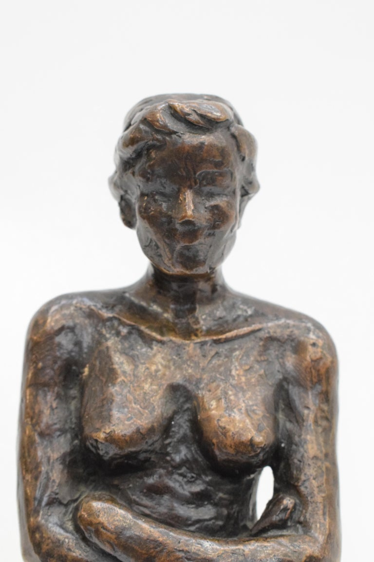 Bronze statue of a woman, Anneke Hei - Degenhardt (1951), Signed 2