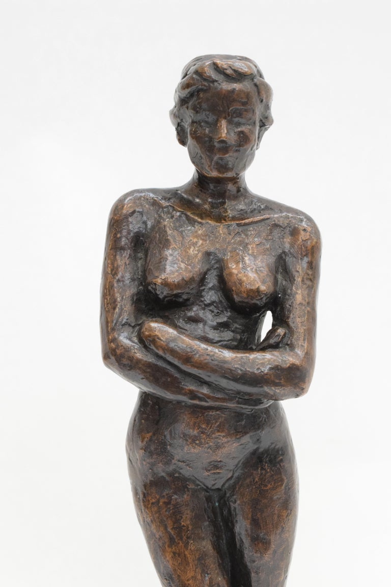 Bronze statue of a woman, Anneke Hei - Degenhardt (1951), Signed 4