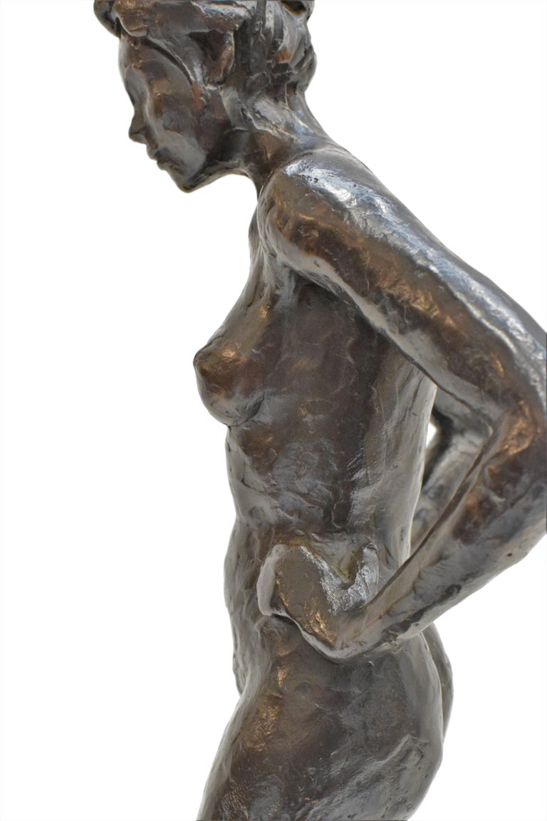Bronze statue of a woman, Anneke Hei - Degenhardt (1951), Signed For Sale 4