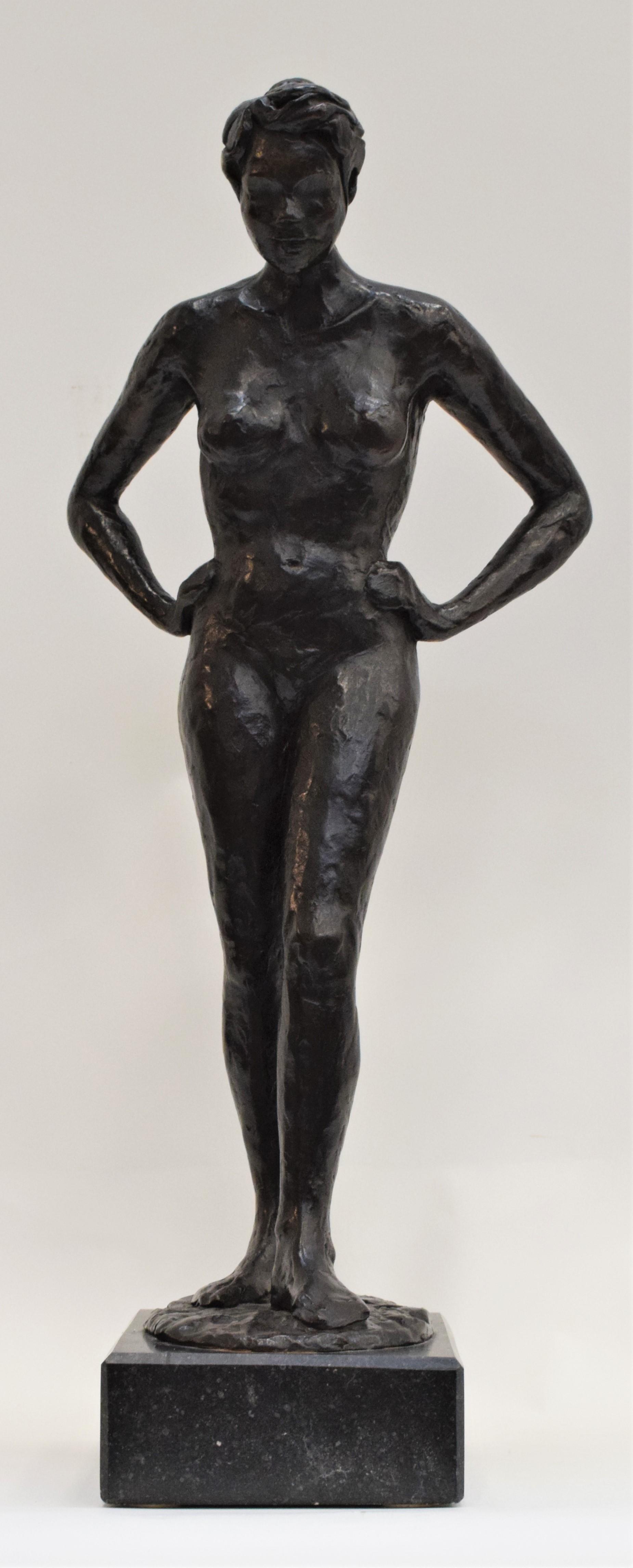 Bronze statue of a woman, Anneke Hei - Degenhardt (1951), Signed