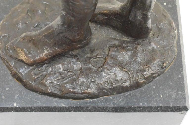 Bronze statue of a woman, Anneke Hei - Degenhardt (1951), Signed For Sale 5
