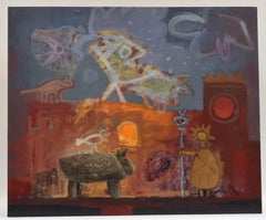 Surrealist figures, Joop Smits, Dutch artist, European