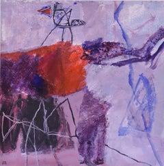 Surrealist, Abstract, Joop Smits, Dutch artist, signed