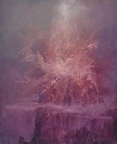 Surrealist, Arcadian mountain landscape, Joop Smits, Dutch artist, signed
