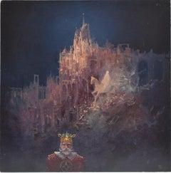 King, Arcadian landscape, Figurative, Joop Smits, Dutch artist, signed