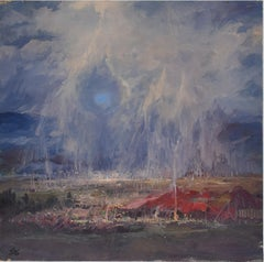 Surrealistic, Arcadian landscape, Figurative, Joop Smits, Dutch artist, signed