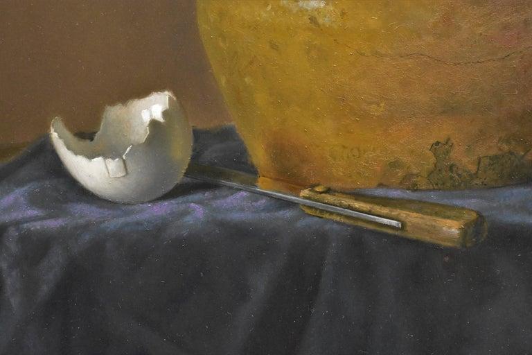Yellow jug with egg - Peter van den Borne For Sale 5