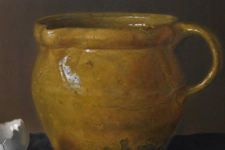 Yellow jug with egg - Peter van den Borne For Sale 6