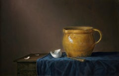 Yellow jug with egg - Peter van den Borne
