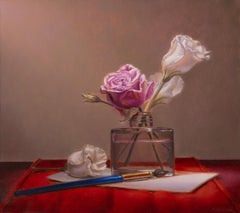 Love letter with roses - Peter van den Borne