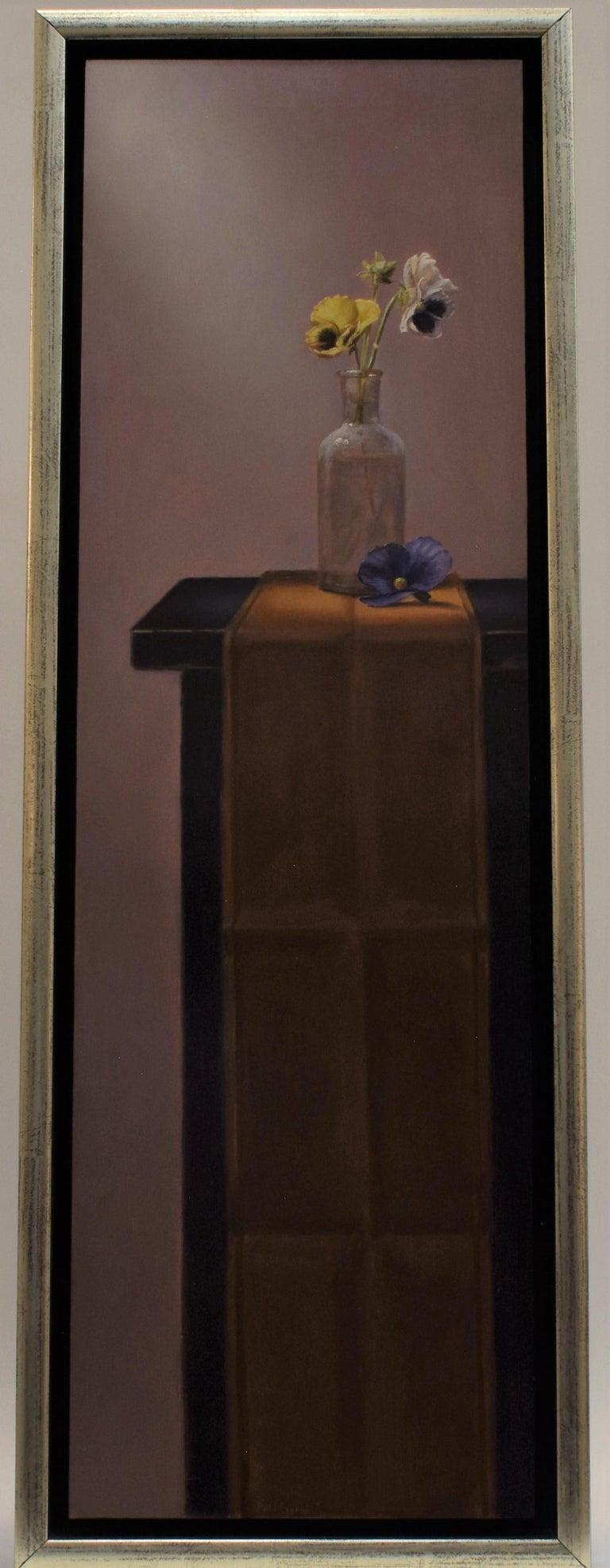 Violin (pendant) - Peter van den Borne - Realist Painting by Peter van den Borne