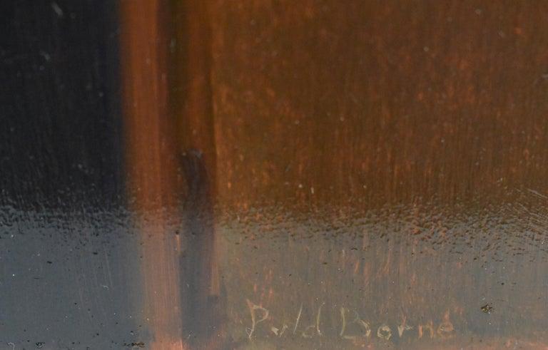 Violin (pendant) - Peter van den Borne - Beige Interior Painting by Peter van den Borne