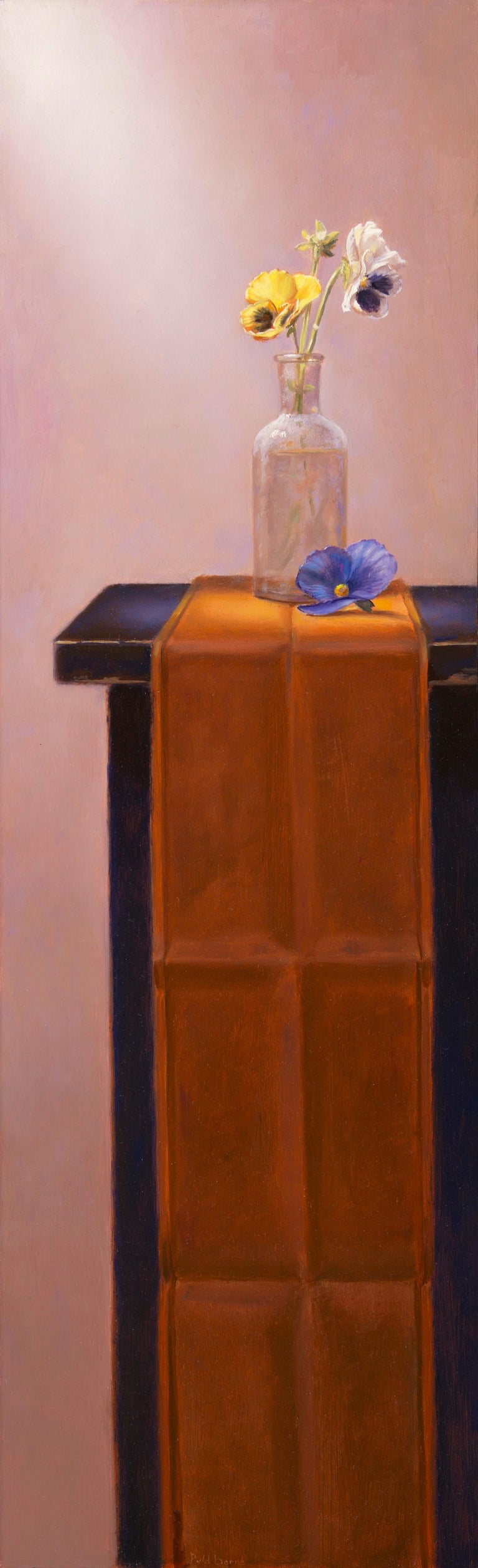 Violin (pendant) - Peter van den Borne - Painting by Peter van den Borne