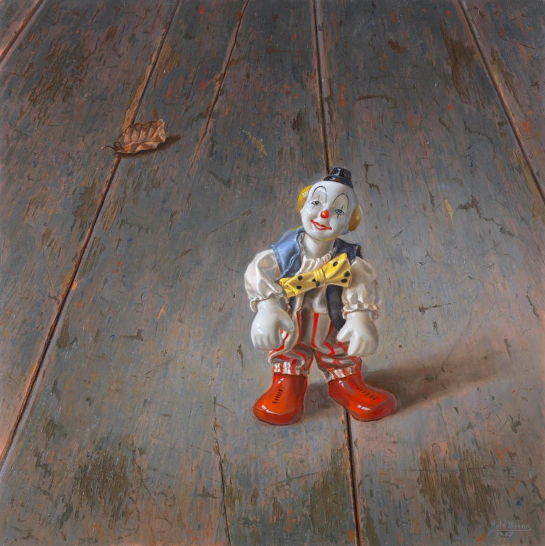 The Clown - Peter van den Borne - Painting by Peter van den Borne