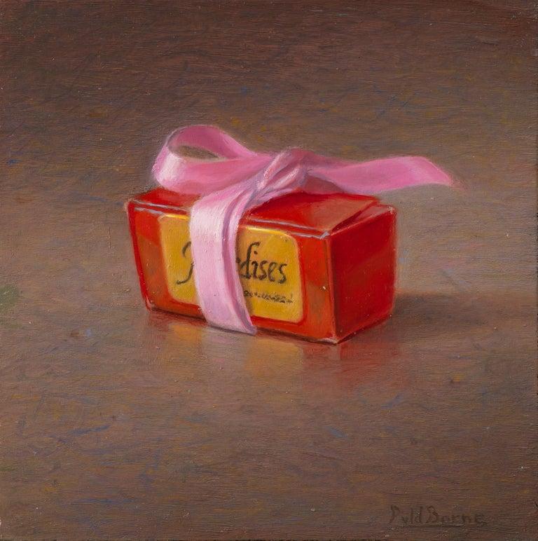 Box of chocolates - Peter van den Borne - Painting by Peter van den Borne