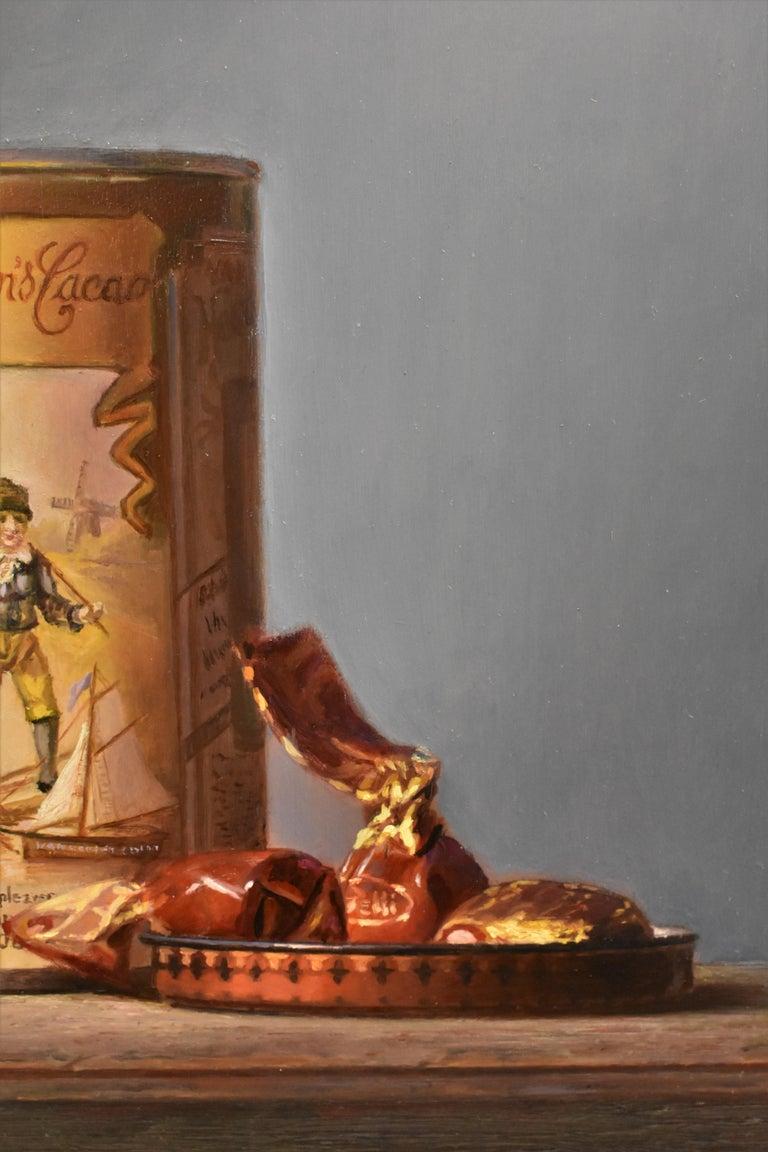 Van Houten tin with chocolates - Peter van den Borne For Sale 2